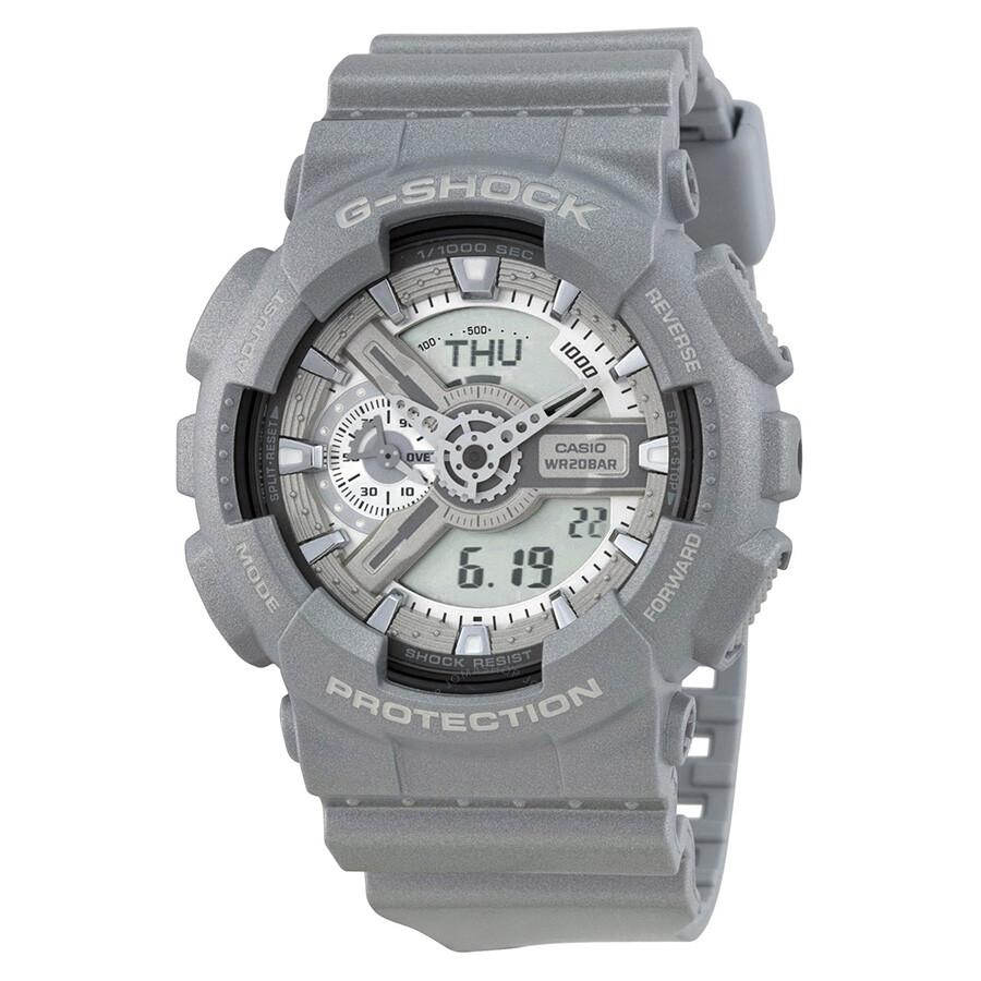 afc113d56fd2 Casio G-Shock Analog Digital Dial Silver Resin Men s Watch GA110BC-8CR ...