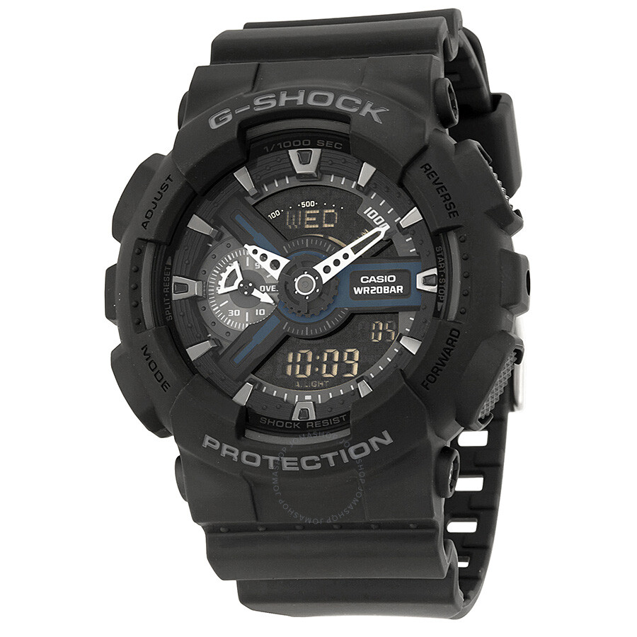 Casio G-Shock Analog Digital World Time Black Dial Men s Watch GA110-1BCR  ... 59bf0bf14b02