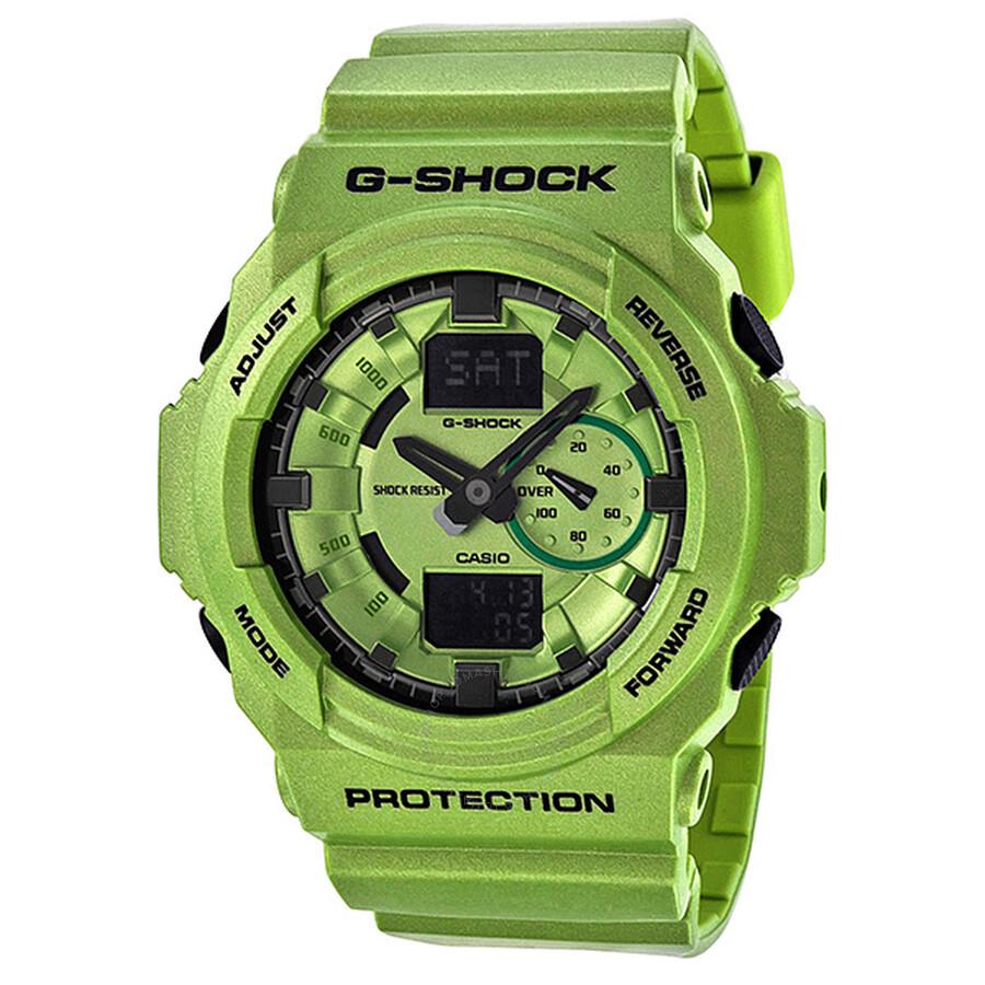 7897fc30e Casio G-Shock Multi-Function Analog-Digital Green Resin Men's Watch GA150A-  ...