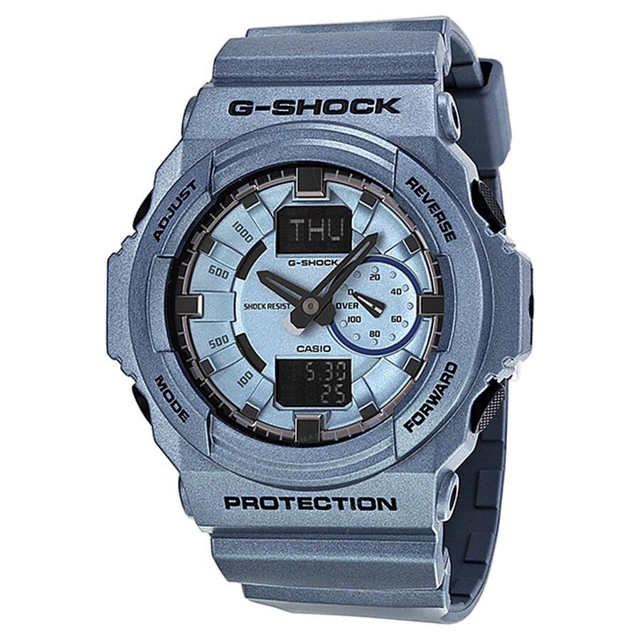 fdf5feea879e Casio G-Shock Speed Indicator Analog-Digital Blue Resin Men's Watch  GA150A-2ACR ...