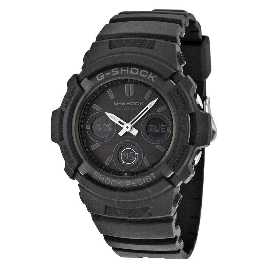 Casio g shock tough solar power atomic men 39 s watch awgm100b 1a g shock casio watches for Solar power watches