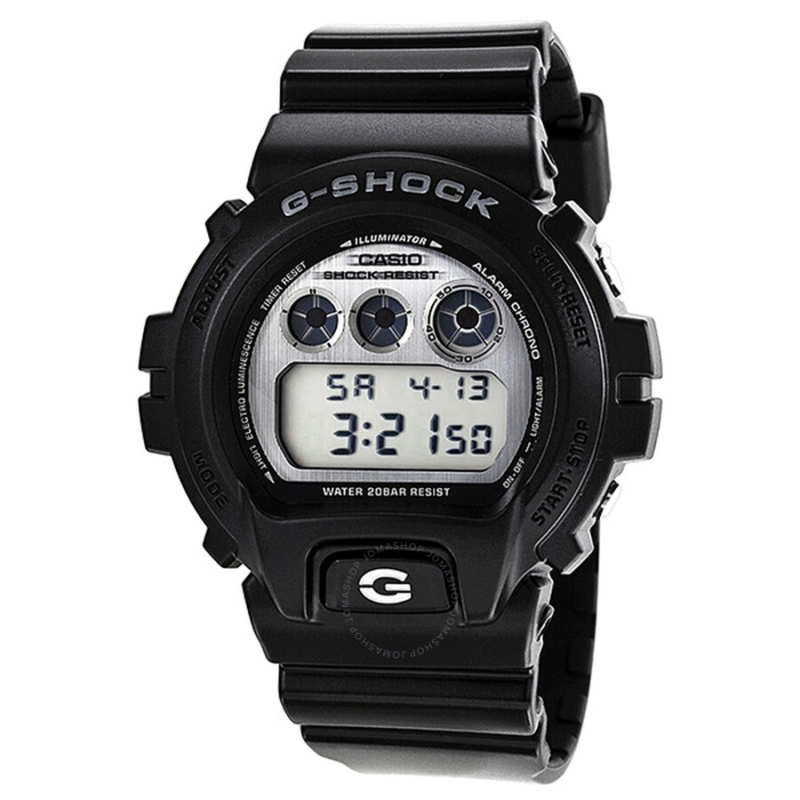 c9b2e9df7968 Casio G-Shock Vintage Multi-Function Silver Dial Black Resin Men s Watch  DW6900HM- ...
