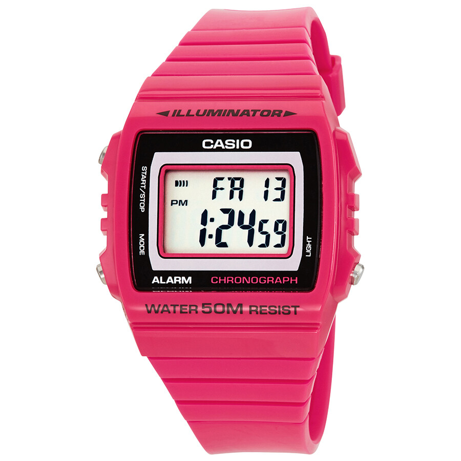 Casio Kids Pink Resin Digital Watch W-215H-4A - Casio ...