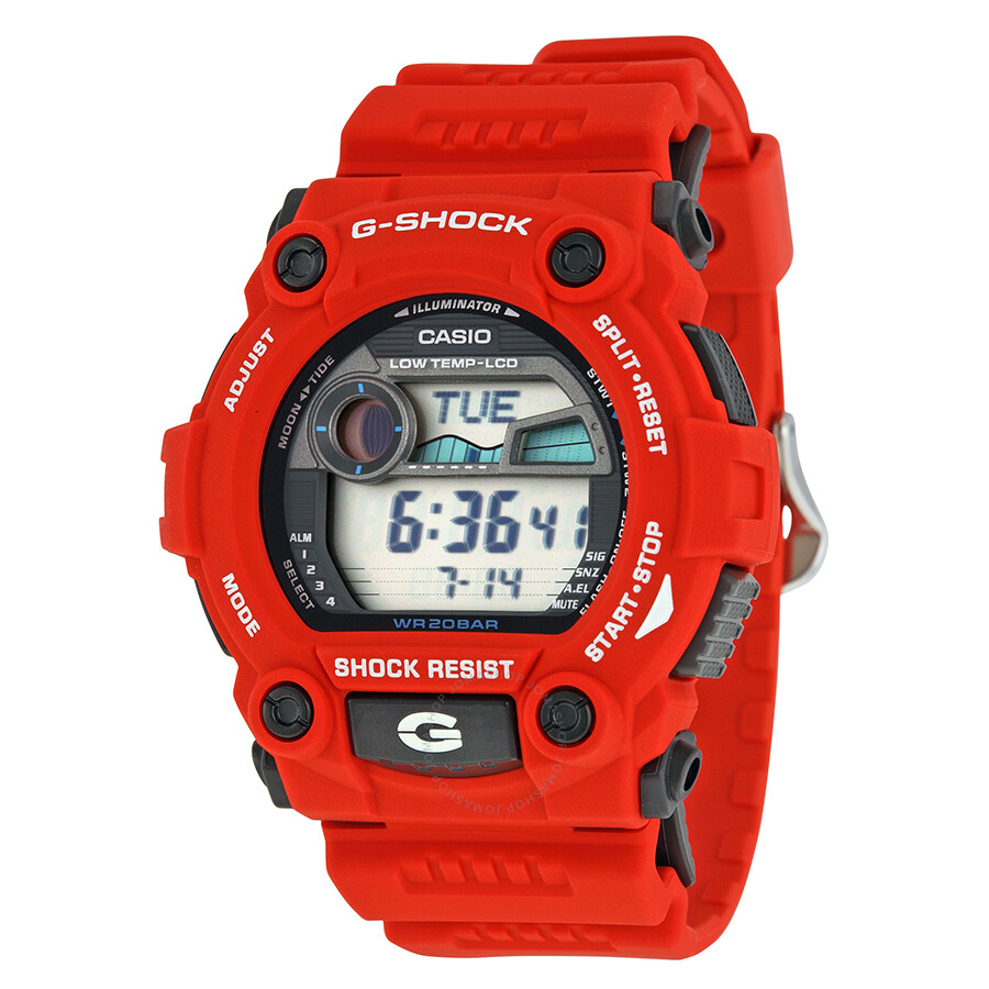 Casio men 39 s g shock rescue red digital sport watch g7900a 4 g shock casio watches jomashop for Watches g shock