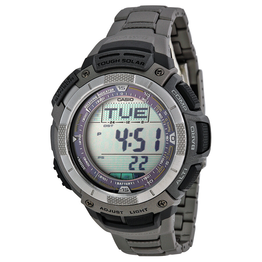 Casio Pathfinder Atomic Solar Titanium Triple Sensor Men S