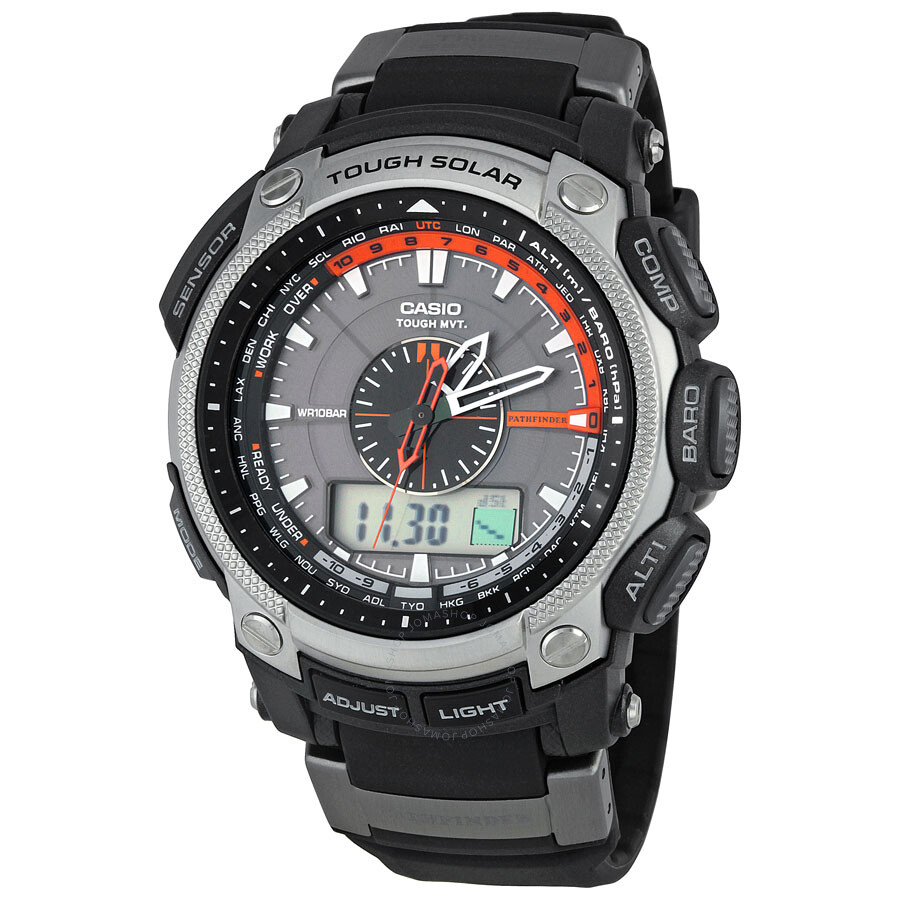 Casio Pathfinder Atomic Solar Powered Multi Function Men S