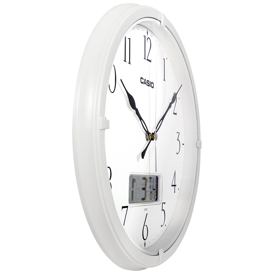 Casio White Dial Analog Digital Wall Clock Ic 01 7 Clock