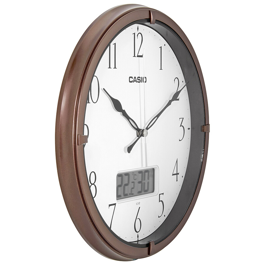 Casio White Dial Thermometer Wall Clock IC-02-5