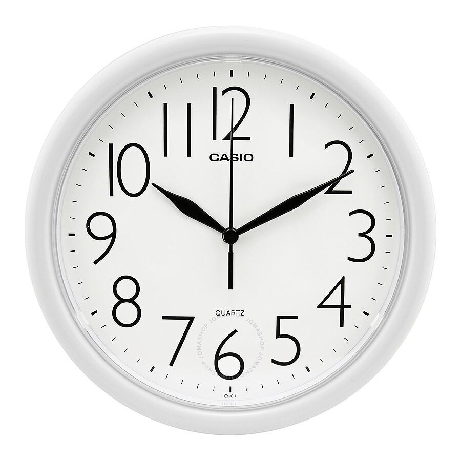 Casio white dial wall clock iq 01 7 clock casio watches casio white dial wall clock iq 01 7 amipublicfo Gallery