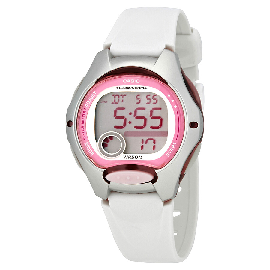 3a8bf43de7a9 Casio White Resin Ladies Sports Watch LW200-7A - Casio - Watches ...