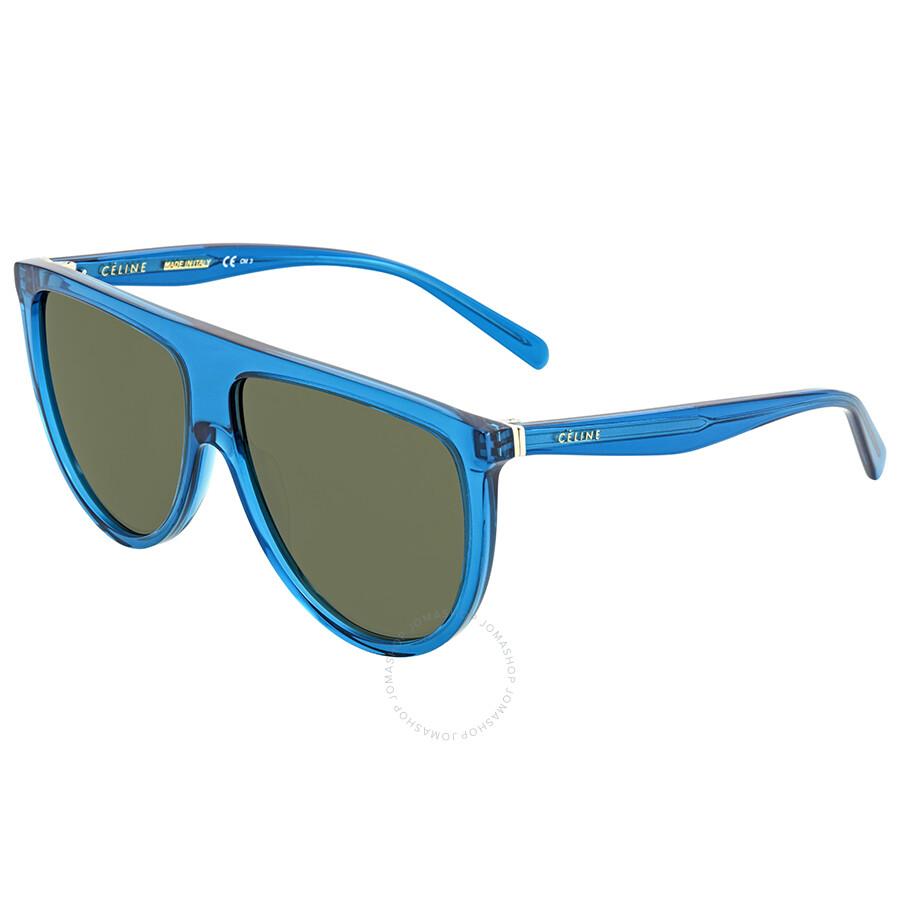 f40deb1d194f3 Celine Audrey Grey- Green Round Sunglasses CL41755S T9185 55 ...