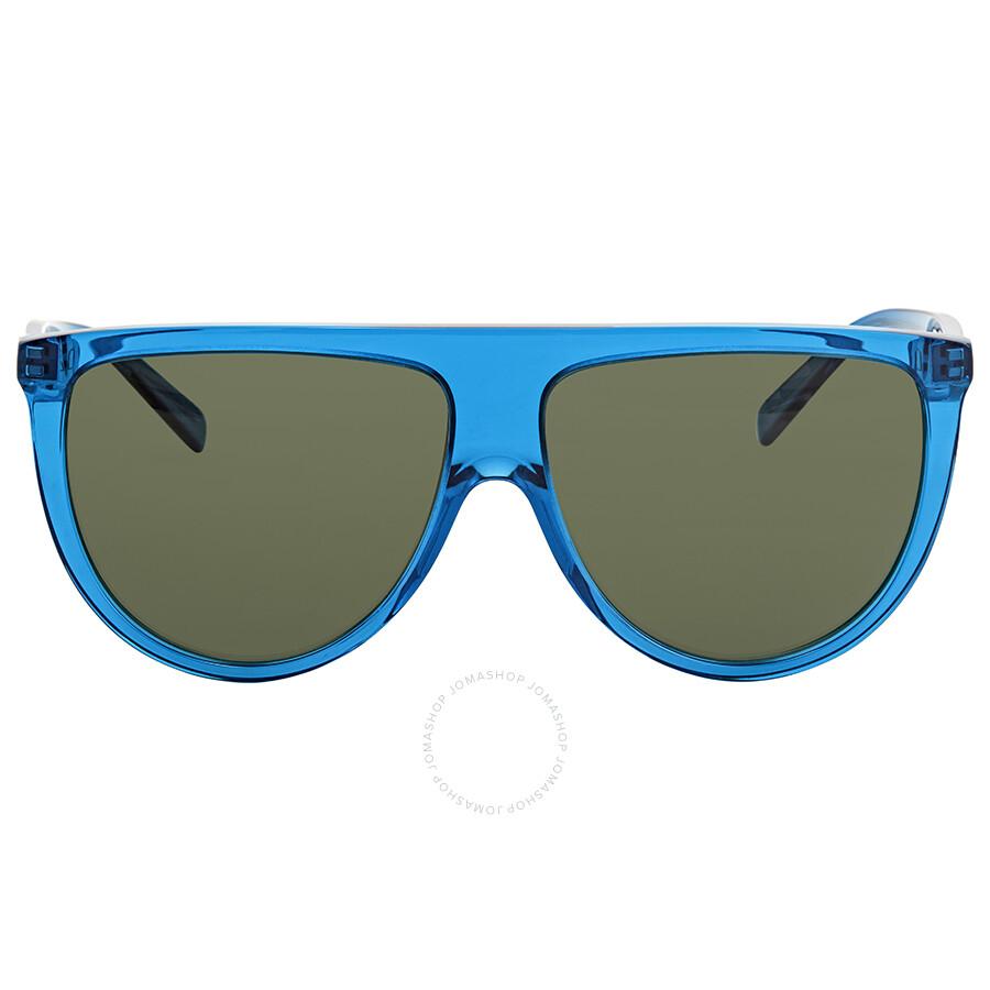 7c80e4df18b17 ... Celine Audrey Grey- Green Round Sunglasses CL41755S T9185 55 ...