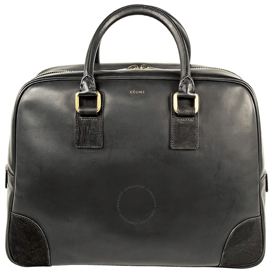 Celine Black Leather Bowler Bag 165403EBR-BK - Jomashop