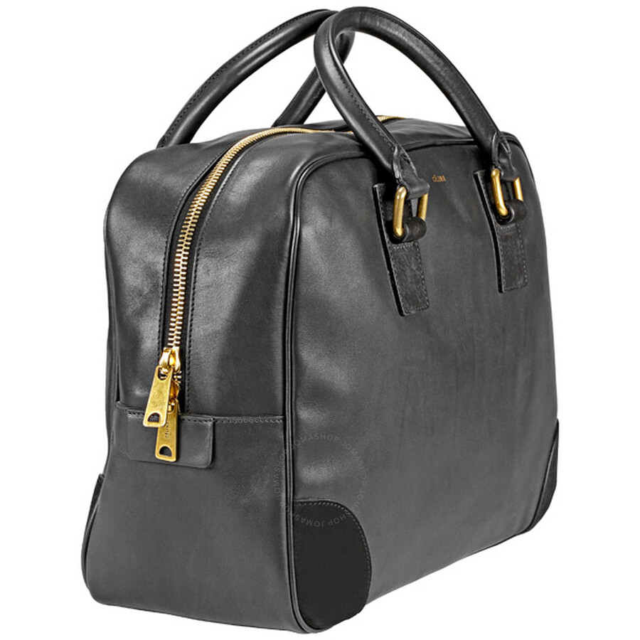 celine leather bowling bag