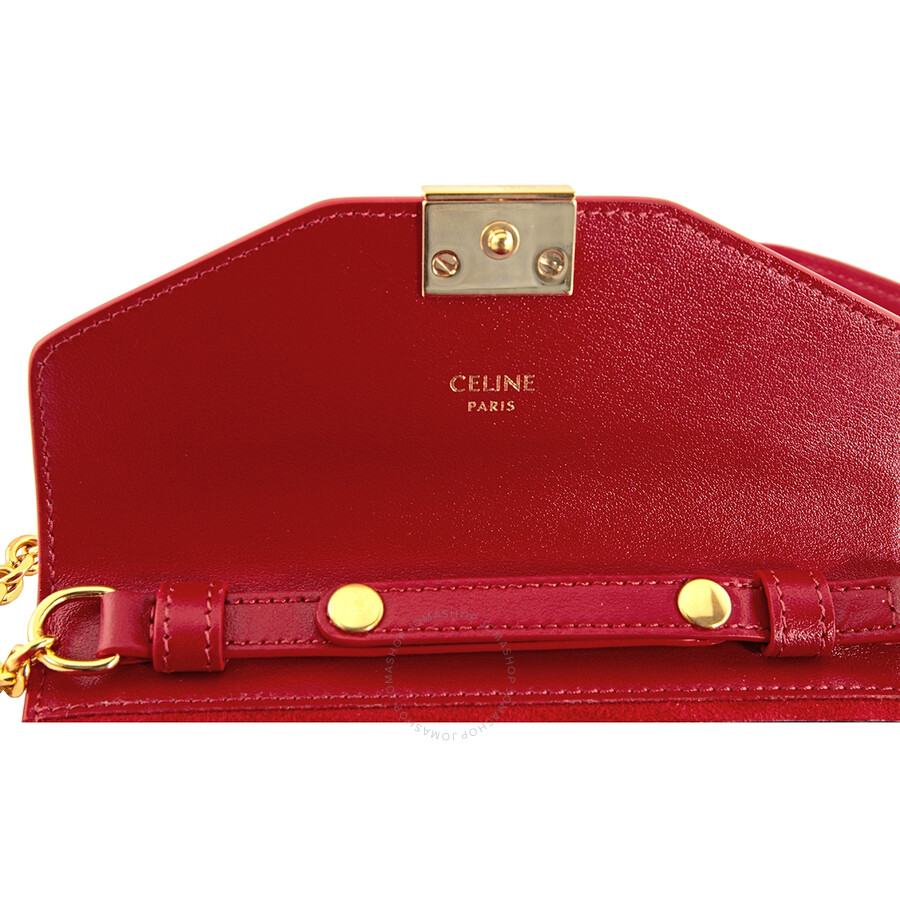 Celine Ladies Iphone X and XS Clutch Bag in Red 10C543BLJ