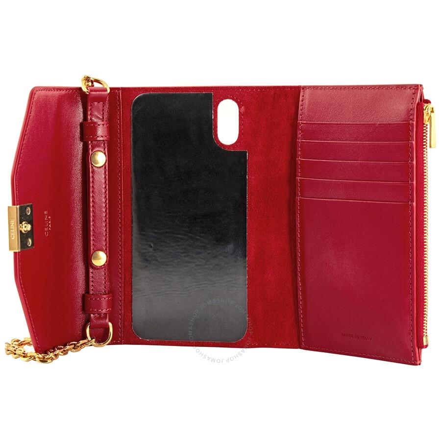 Celine Ladies Iphone X and XS Clutch Bag in Grey 10C543BLJ