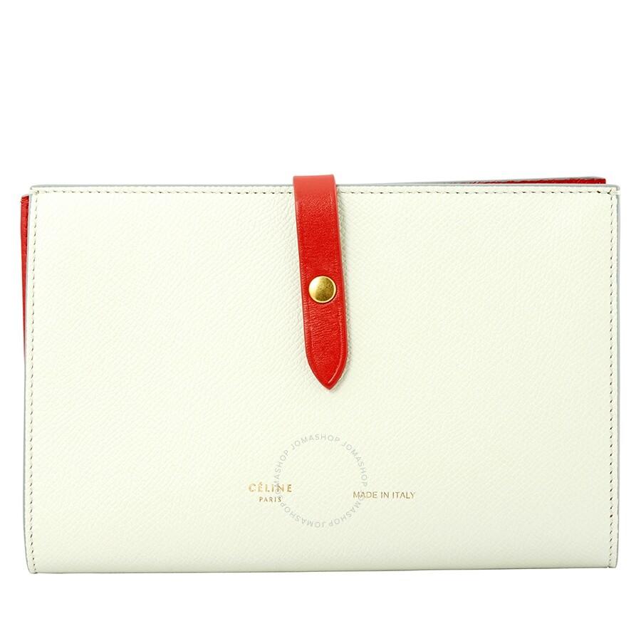 96ddafcccb9 Celine Large Leather Folding Wallet- Jade - Celine - Handbags - Jomashop