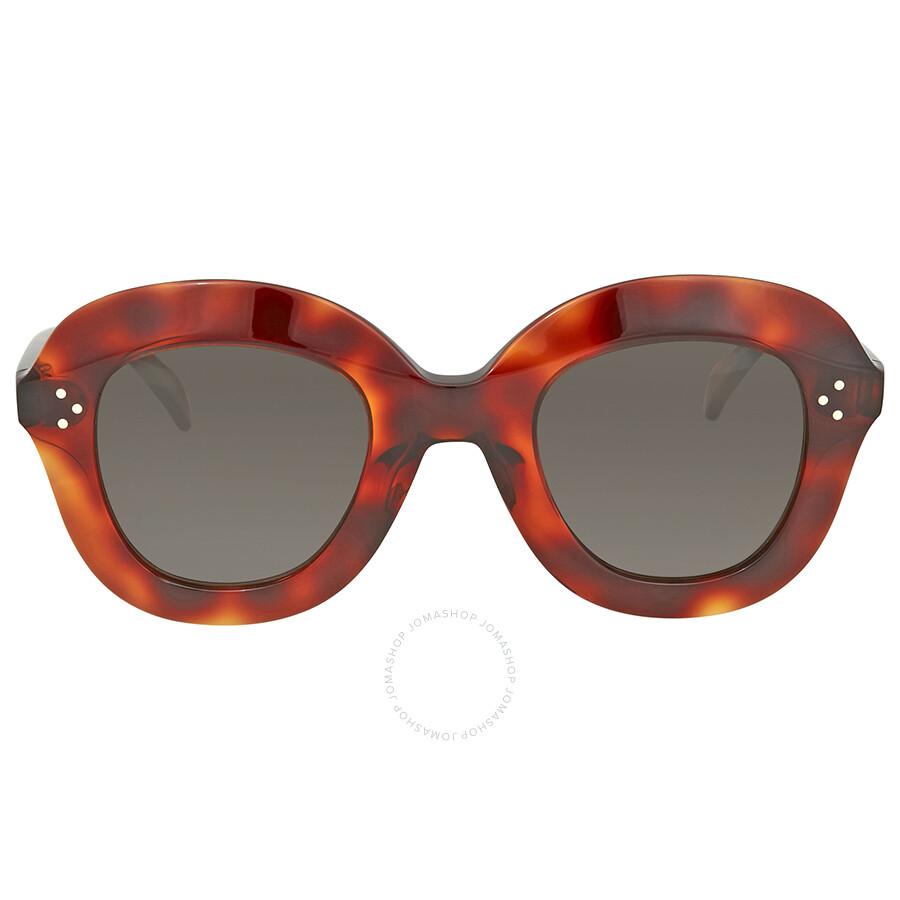 d63b9532bd40 Celine Lola Grey Round Sunglasses CL41445S 086IR 46 - Celine ...