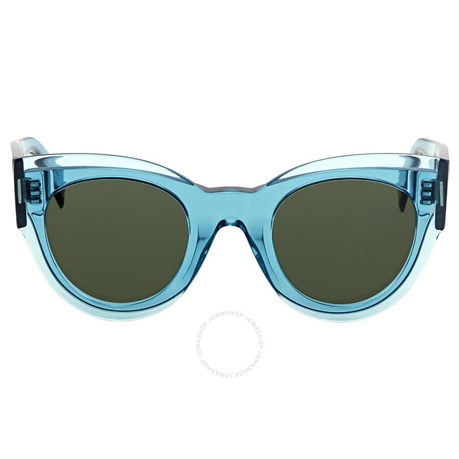 c1e0dfa64ab Celine Petra Green Cat Eye Sunglasses CL41447S MR8QT 48 - Celine ...