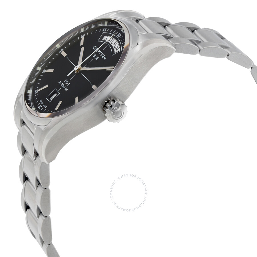 37f73bbde ... Certina DS 1 Automatic Day Date Black Dial Men's Watch C0064301105100  ...