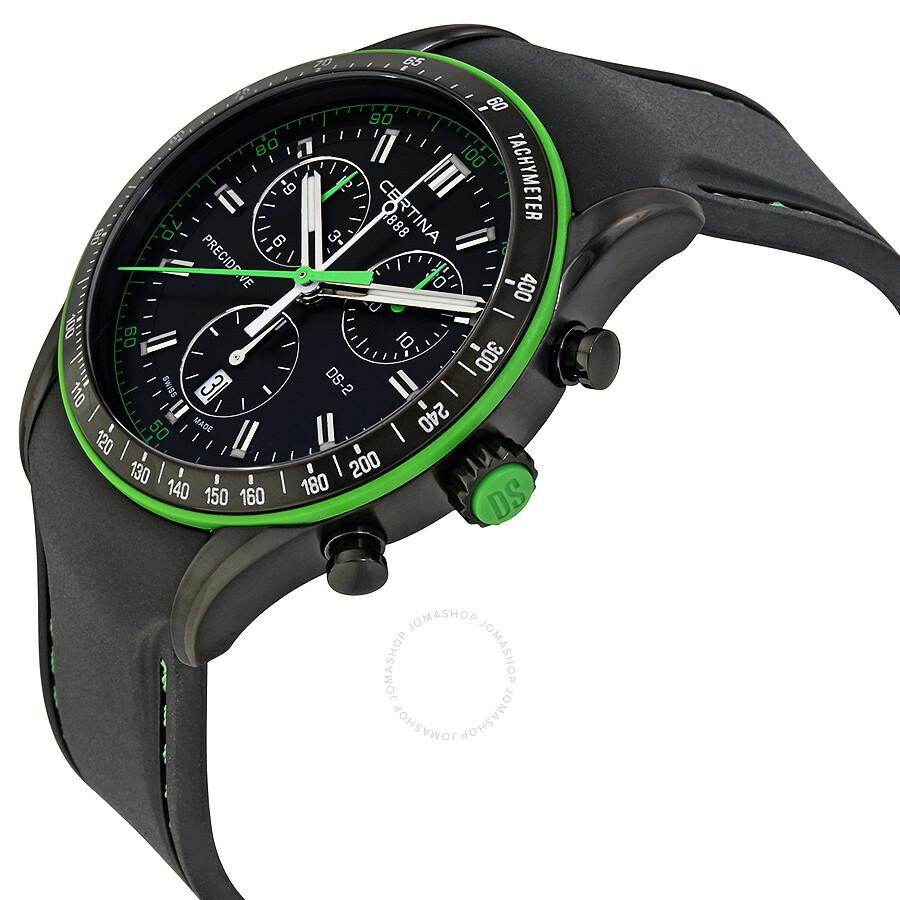 certina ds 2 chronograph black dial men 39 s quartz watch. Black Bedroom Furniture Sets. Home Design Ideas