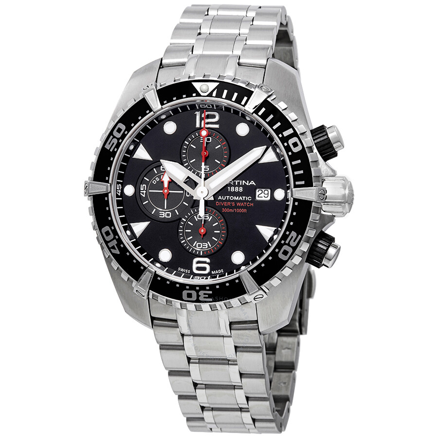 b383eba0c Certina DS Action Chronograph Automatic Black Dial Men's Watch  C032.427.11.051.00 ...