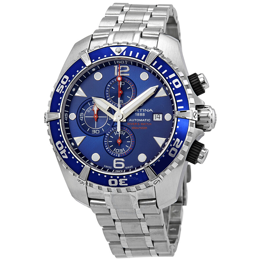4a1560fbe Certina DS Action Chronograph Automatic Blue Dial Men's Watch  C032.427.11.041.00 ...
