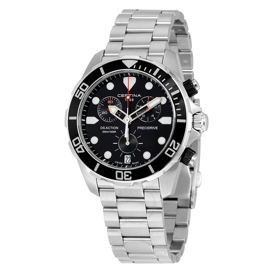 9520bbacf Certina DS Action Chronograph Black Dial Stainless Steel Men's Watch  C0324171105100 Item No. C032.417.11.051.00