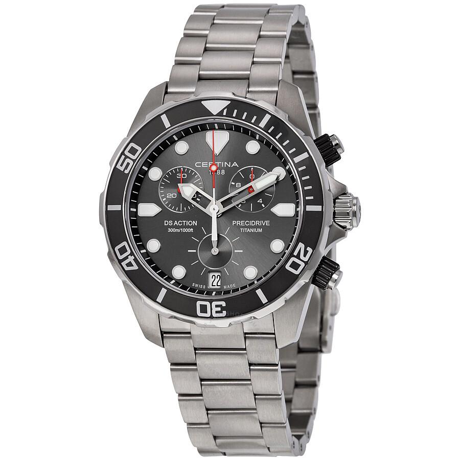 4b3820247 Certina DS Action Chronograph Grey Dial Titanium Men's Watch  C032.417.44.081.00 ...