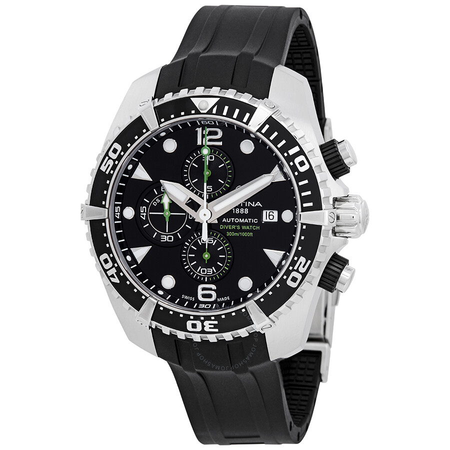 c48f11553 Certina DS Action Diver Chronograph Automatic Black Dial Men's Watch  C032.427.17.051.00 ...