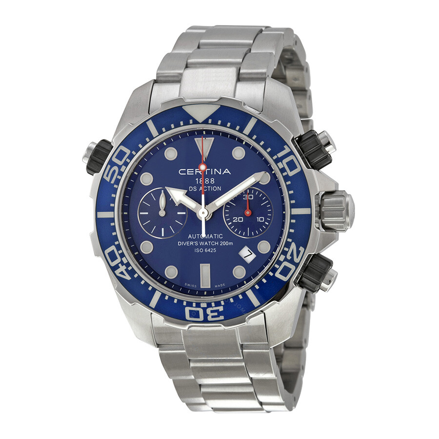 certina ds action diver chronograph blue dial men 39 s watch. Black Bedroom Furniture Sets. Home Design Ideas