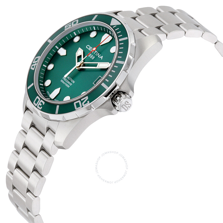 certina ds action green dial mens watch c0324101109100