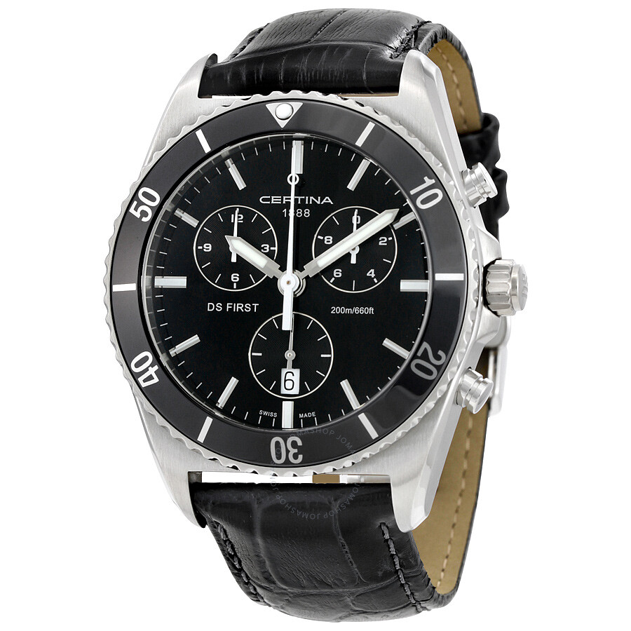 certina ds first ceramic chronograph men 39 s watch. Black Bedroom Furniture Sets. Home Design Ideas