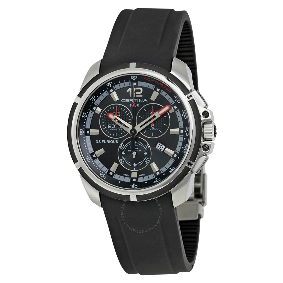 certina ds furious chronograph men 39 s watch. Black Bedroom Furniture Sets. Home Design Ideas