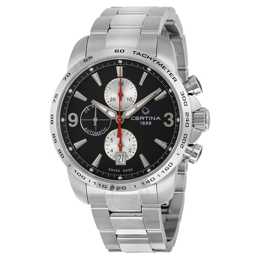 certina ds podium automatic chronograph black dial. Black Bedroom Furniture Sets. Home Design Ideas