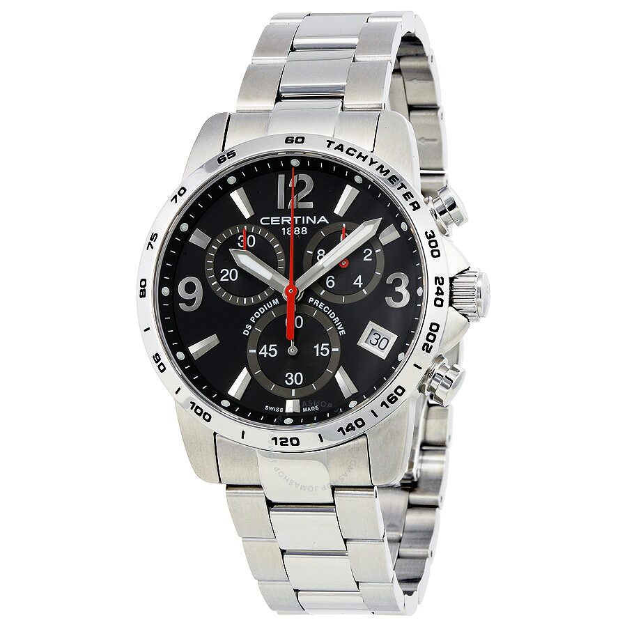certina ds podium chronograph black dial men 39 s watch c034. Black Bedroom Furniture Sets. Home Design Ideas