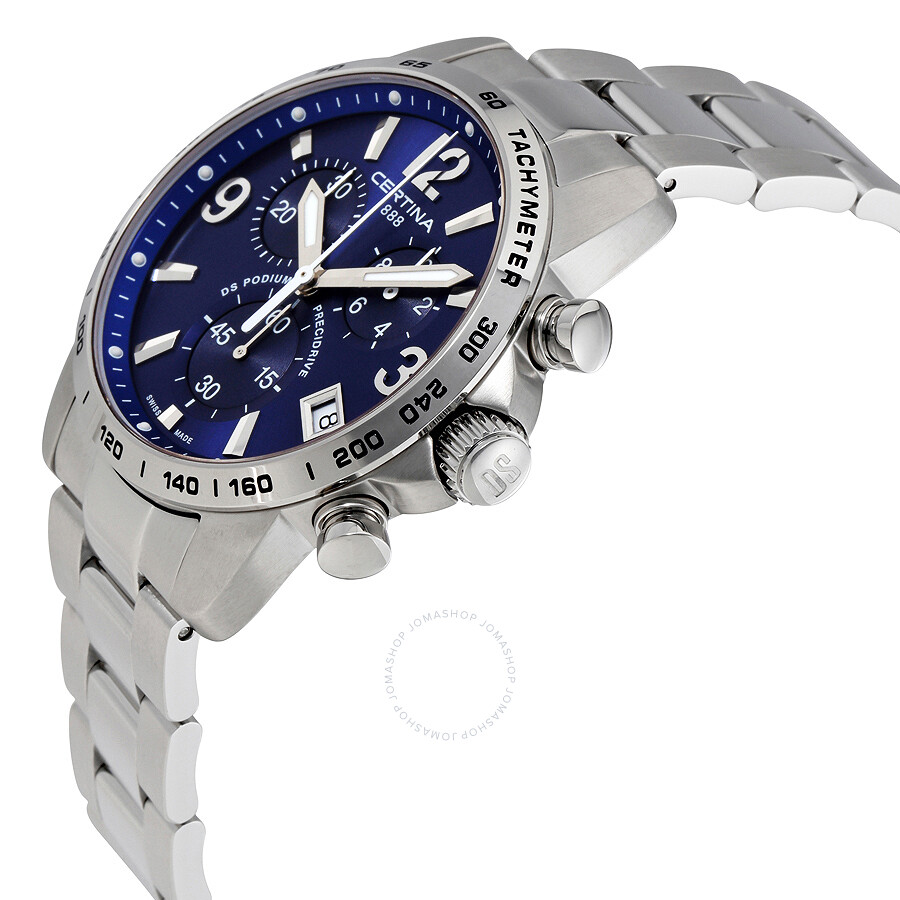 certina ds podium chronograph blue dial men 39 s watch. Black Bedroom Furniture Sets. Home Design Ideas