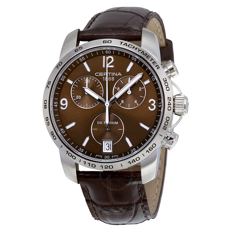 certina ds podium chronograph brown dial men 39 s watch. Black Bedroom Furniture Sets. Home Design Ideas