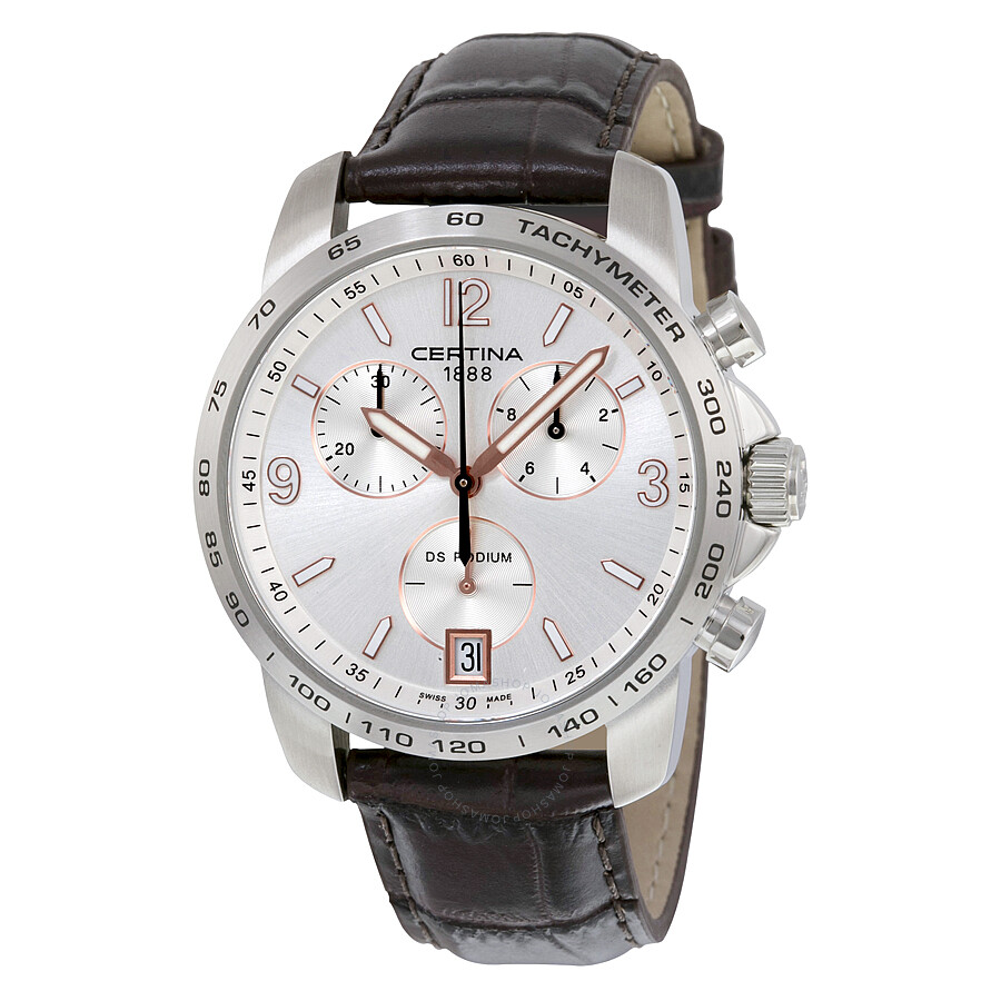 certina ds podium chronograph silver dial men 39 s watch. Black Bedroom Furniture Sets. Home Design Ideas