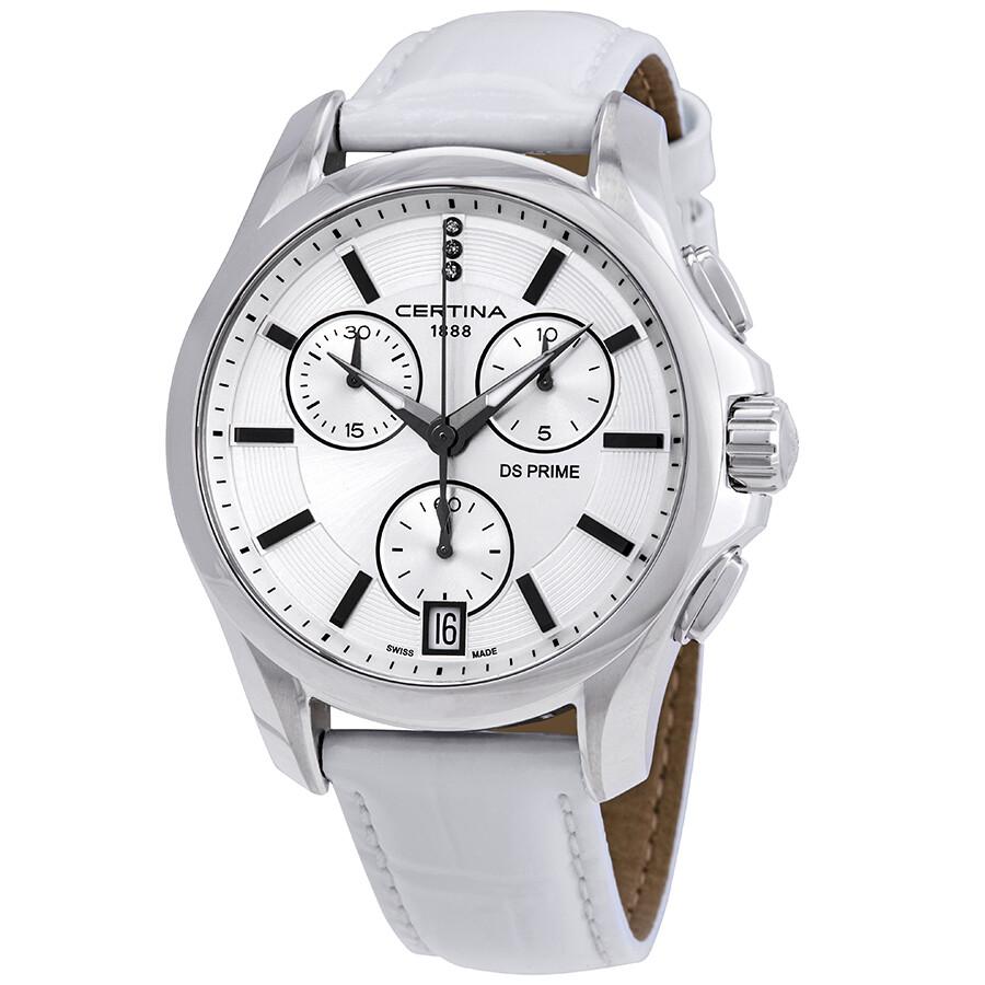 Certina DS Prime Chronograph Silver Dial Ladies Watch C004.217.16.036.00 ... 290bcb09132