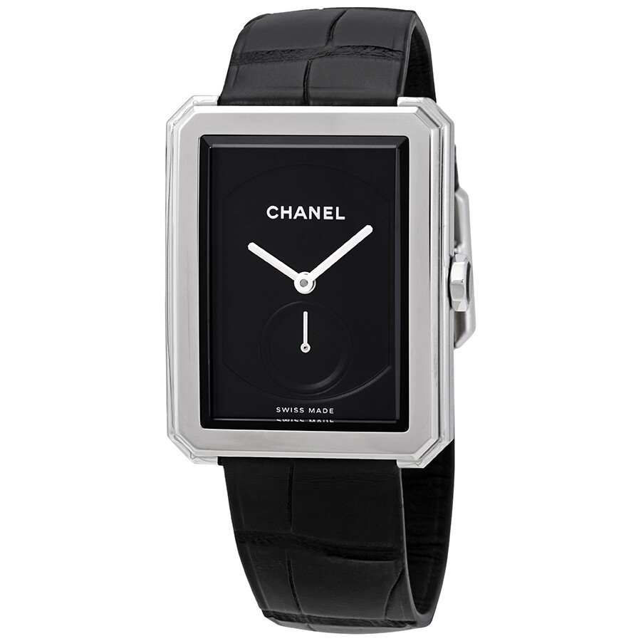 Boy Friend Black Dial Ladies Watch by Chanel