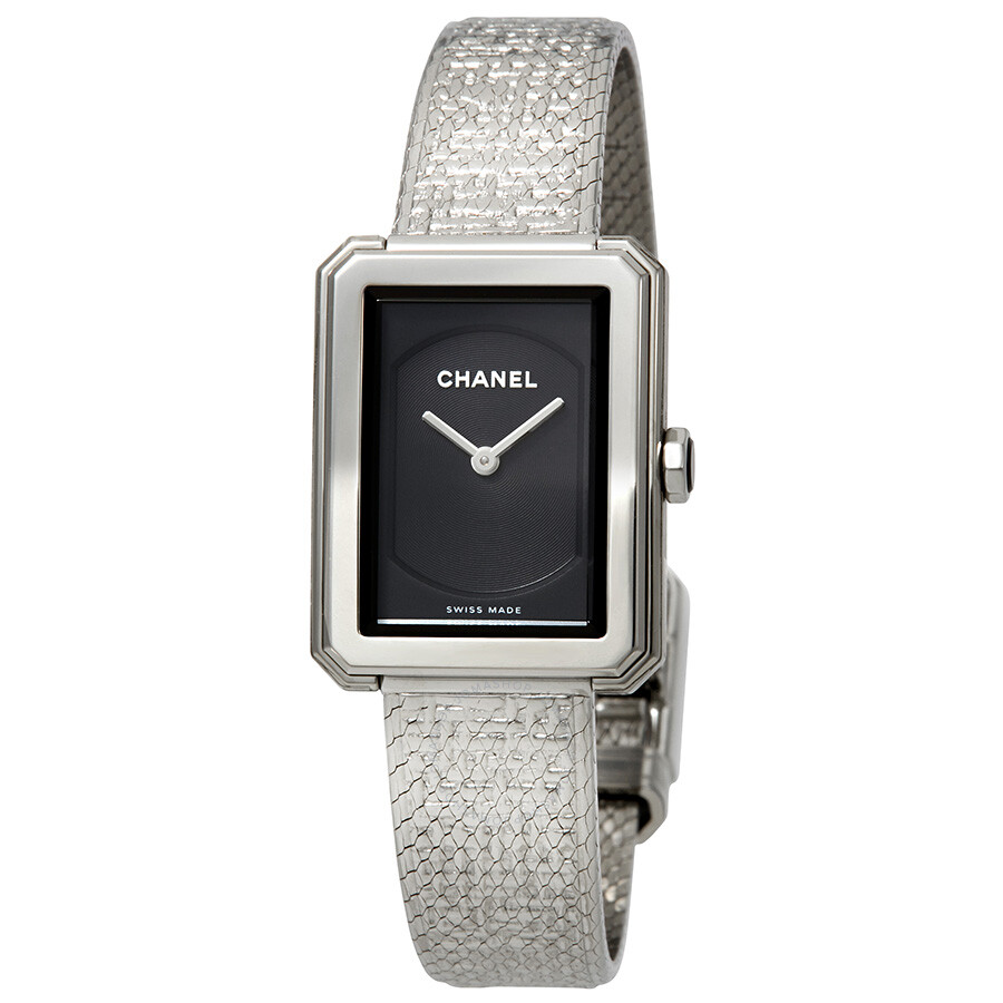 05c55a3c579a Chanel Boy-Friend Black Guilloche Dial Ladies Watch H4876 - Boy ...