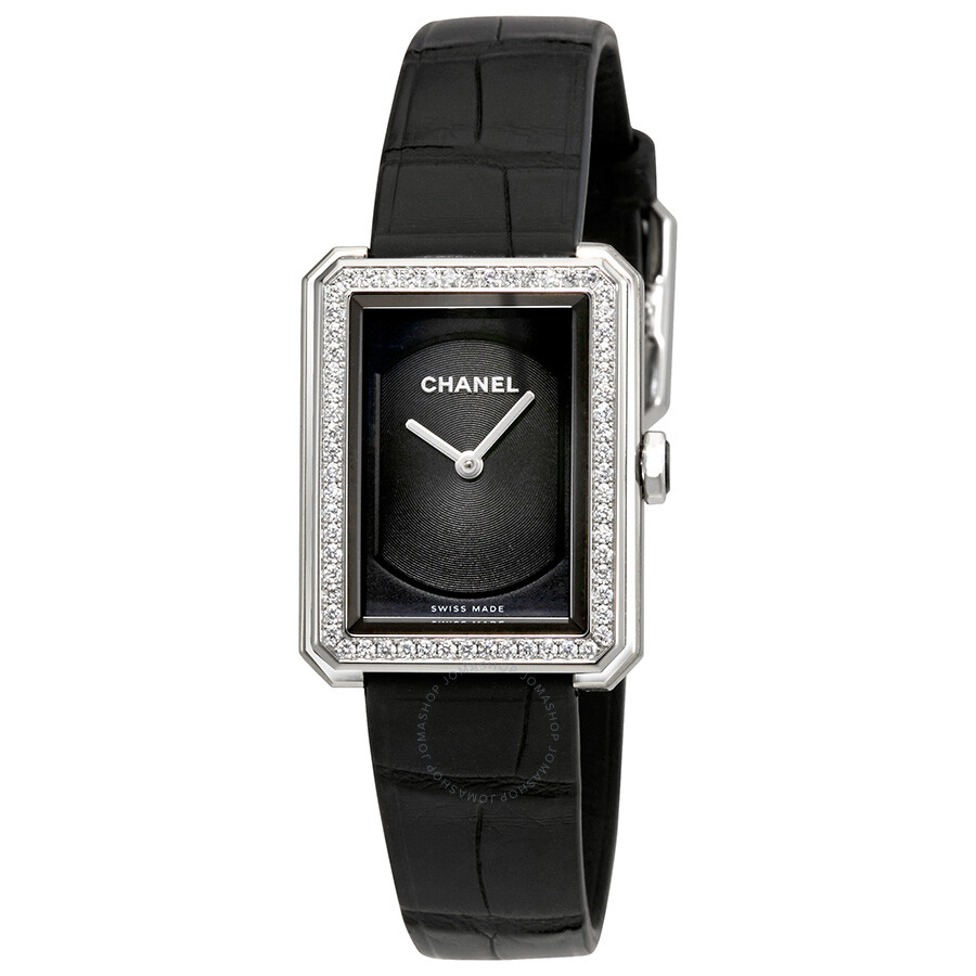 16110f618c1f Chanel Boy-Friend Black Guilloché Dial Ladies Watch H4883 - Boy ...