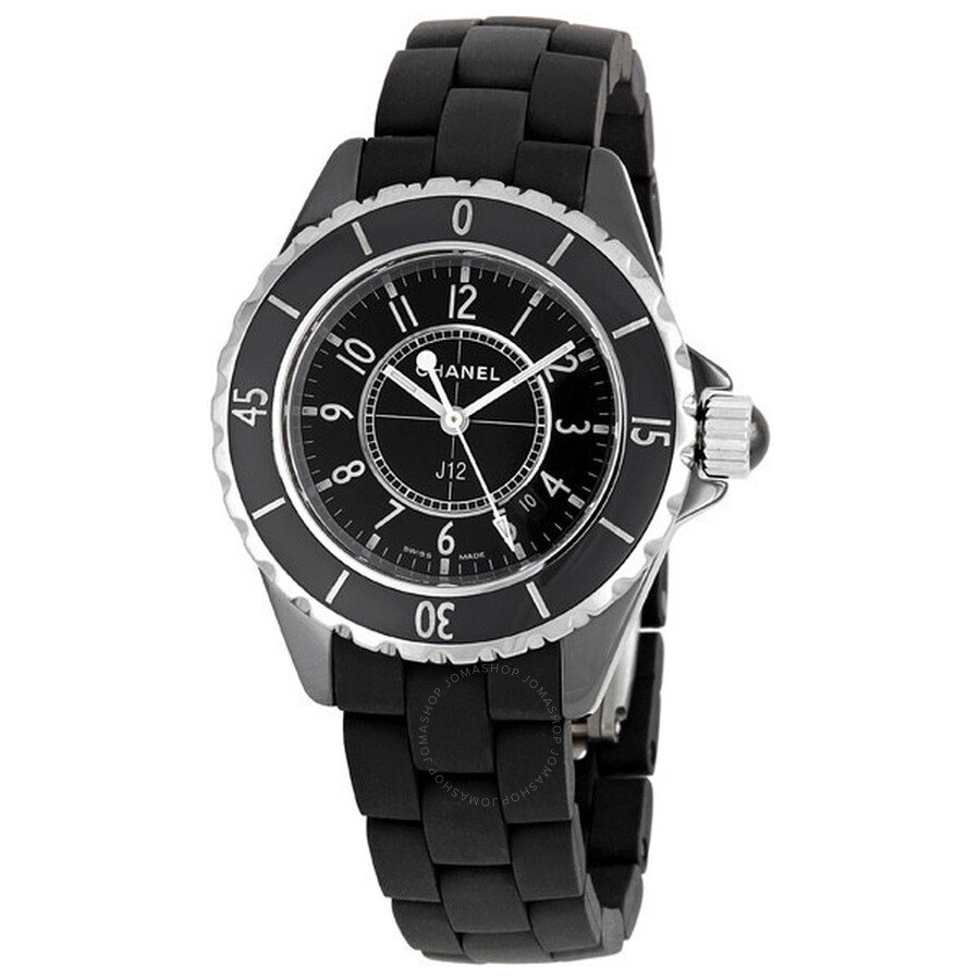 f0f5c234 Chanel J12 Black Ceramic and Rubber Unisex Watch H0681
