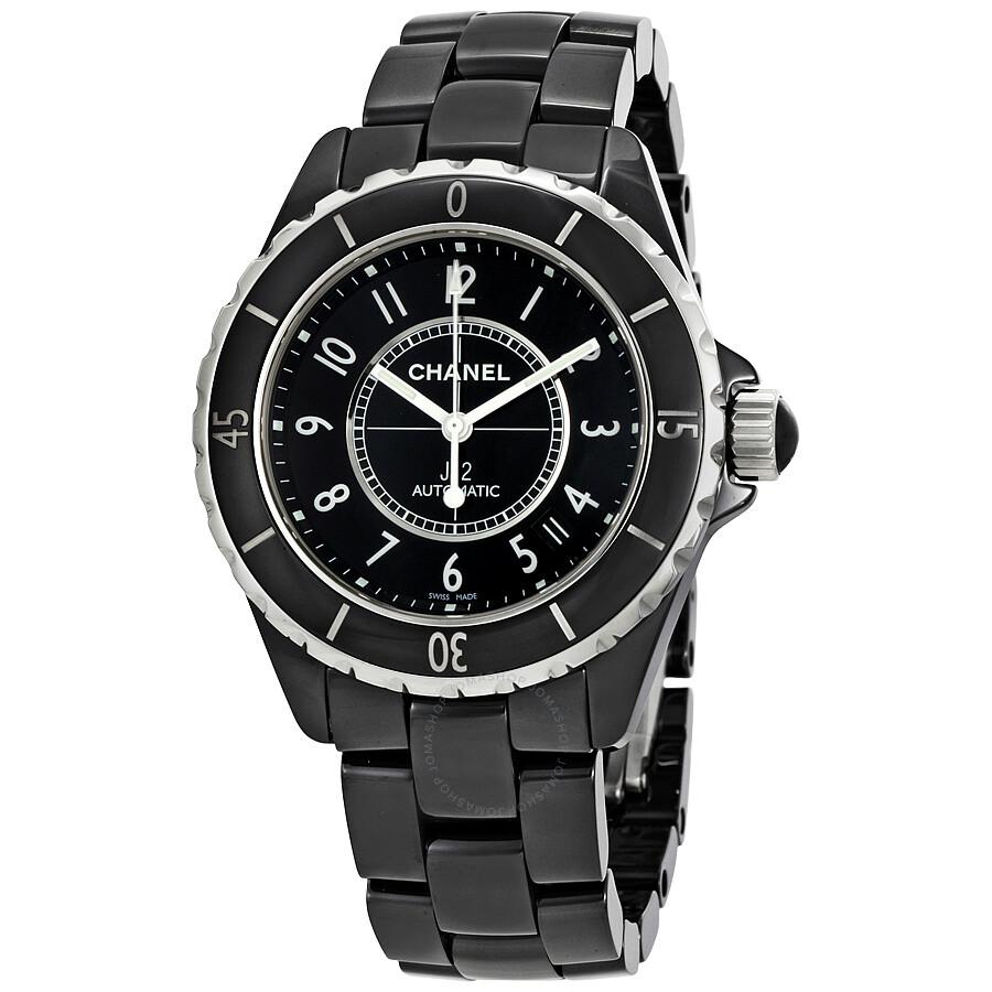 Chanel J12 Black Ceramic Automatic Midsize Unisex Watch ...