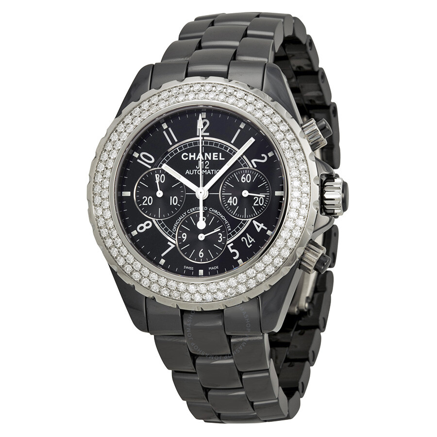 c4c4fe08a940 Chanel J12 Black Ceramic Ladies Watch H1009 - J12 - Chanel - Watches ...