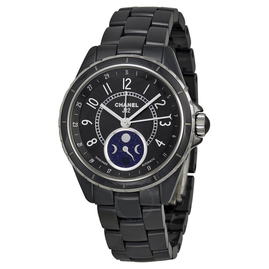 4e364cdb4897 Chanel J12 Black Ceramic Moonphase Unisex Watch H3406 - J12 - Chanel ...