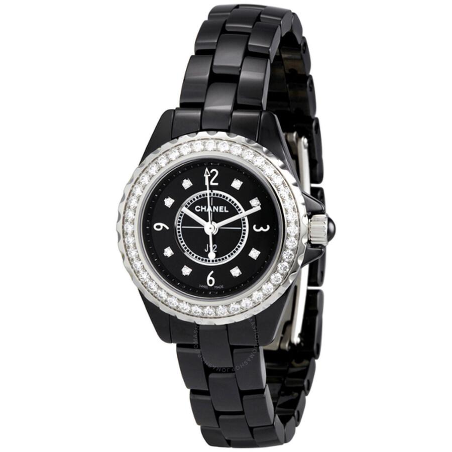 904d07f4 Chanel J12 Black Ceramic Quartz Ladies Watch H2571