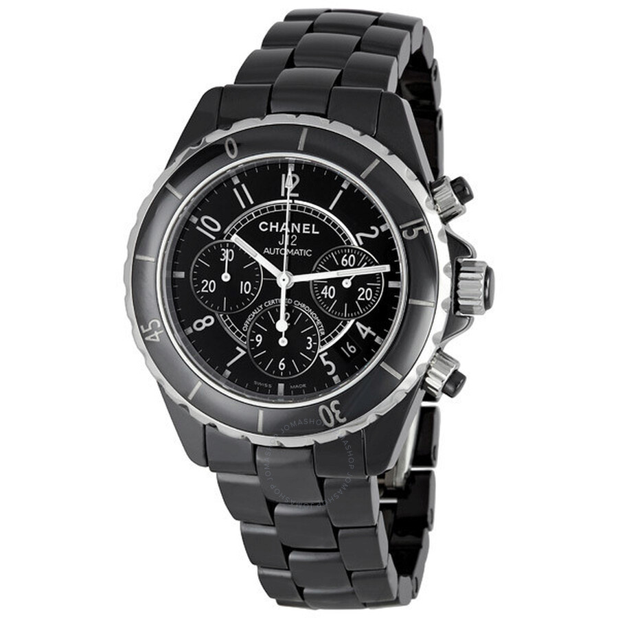 chanel watches jomashop chanel j12 chronograph black ceramic unisex watch