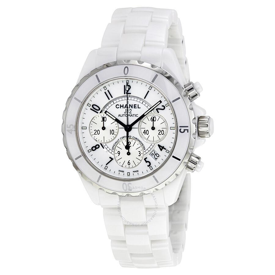 9baef843e909 Chanel J12 Chronograph White Ceramic Unisex Watch H1007 - J12 ...